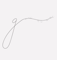 hand lettering floral g lowercase monogram and vector image