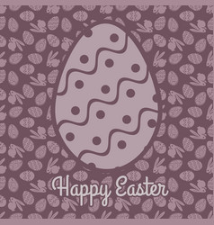 happy easter greeting card design vector image