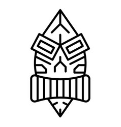 Hawaii idol icon outline style vector