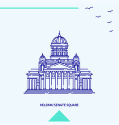 Helsinki senate square skyline vector