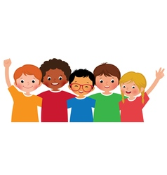 International group of children friends vector image