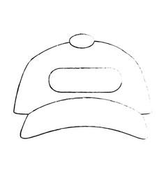isolated cute beach cap vector image