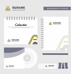 Jump road sign logo calendar template cd cover vector