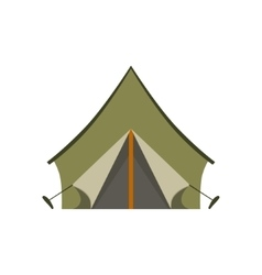 Khaki tarpauline camping tent vector