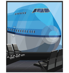 large airliner vector image