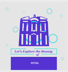 Lets explore the beauty of petra maan governorate vector