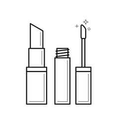 lipstick linear icon vector image