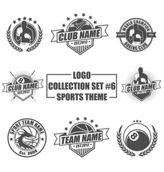 logo collection set with sports theme vector image