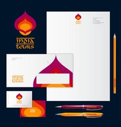 Logo identity india tours identity vector