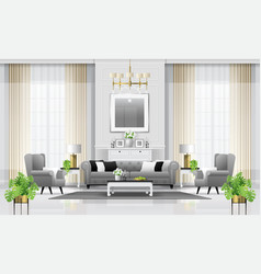 Luxury living room interior background vector
