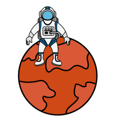 Mars planet isolated icon vector