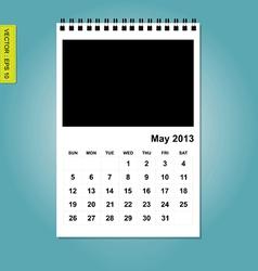 May 2013 calendar vector image