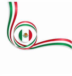 Mexican wavy flag background vector