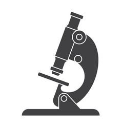Microscope silhouette vector