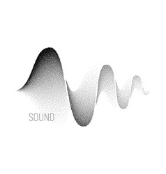 Music sound waves halftone vector