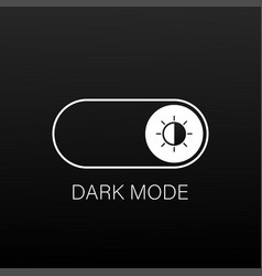 On off switch dark and light mode switcher web vector