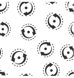 Oval with arrows icon seamless pattern background vector