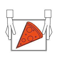 pizza flat vector image