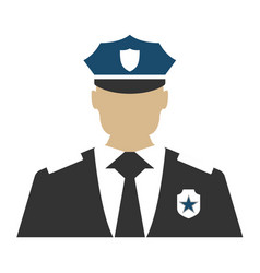 Police officer elements of the police equipment vector