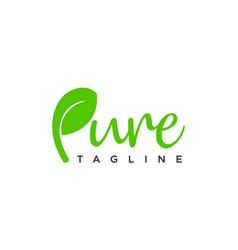 Pure logo design concept editable vector