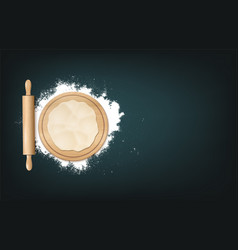realistic baking background vector image