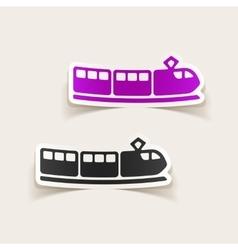 realistic design element train vector image