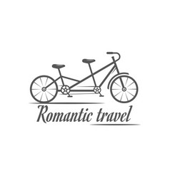 Romantic travel logotype vector