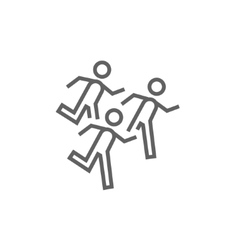 Running men line icon vector image