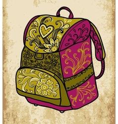 School backpack vector image