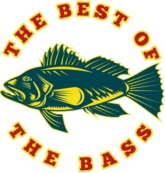 Sea Bass the best of bass vector
