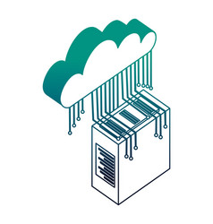 Server data center with cloud computing and vector