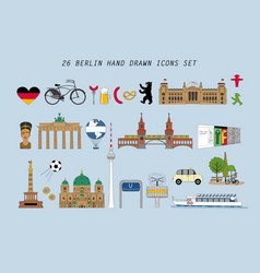 set with various symbols berlin vector image