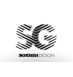 Sg s g lines letter design with creative elegant vector