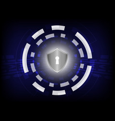 shield on digital background vector image