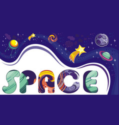 space banner templates vector image