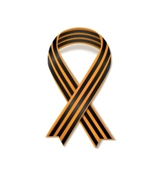 St George striped black and orange ribbon isolated vector image