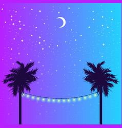 starry night and palm vector image