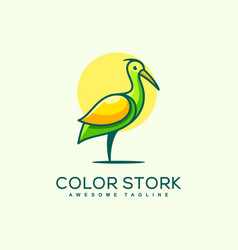 stork concept design template vector image