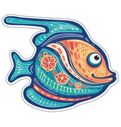 stylized ornamental decorative fish vector image