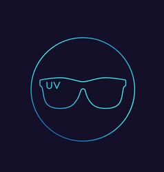 sunglasses uv protection linear icon vector image