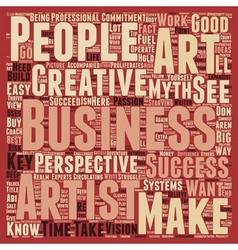 The Art Of Creative Business Success text vector image