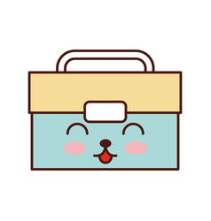 Tool box kawaii character vector