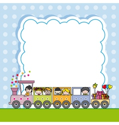 Train with children vector image