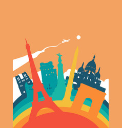 travel france world landmark landscape vector image