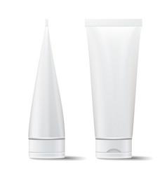 Tube mock up empty clean cream cosmetic vector
