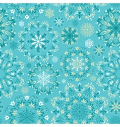 turquoise christmas pattern vector image