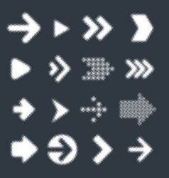vector arrow icon set vector image