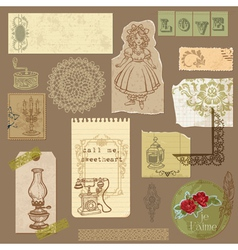 vintage ornamental elements vector image