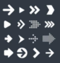 vrctor arrow icon set vector image