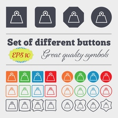 Weight icon sign Big set of colorful diverse vector image